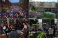Collage of Wikimania 2013 and 2014 images (working).xcf