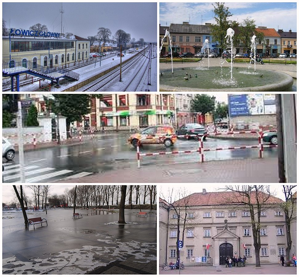 Collage of views of Łowicz