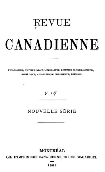 Fichier:Collectif - Revue canadienne, Tome 1 Vol 17, 1881.djvu