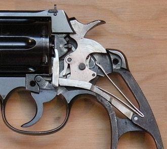 Colt New Service - New Service Revolver, lock