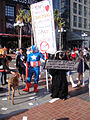 Comic-Con 2010 - Captain America, Super Skunk and Anaheim the Goat wants to Keep Comic-Con in San Diego! (4878079533).jpg