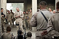 Commandant of the U.S. Marine Corps Gen. James Conway speaks with Marines of 1st Battalion, 5th Marine Regiment at Patrol Base Jaker, Nawa district, Helmand province, Afghanistan, Aug. 24, 2009 090824-M-RM405-229.jpg