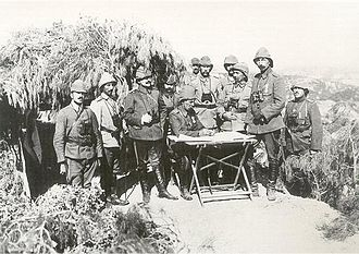 III Corps (Ottoman Empire) - Image: Commanders of the Ottoman III Corps at the Gallipoli Front