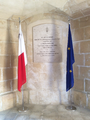 Commemorative plaque of the opening of the Malta Maritime Museum.png