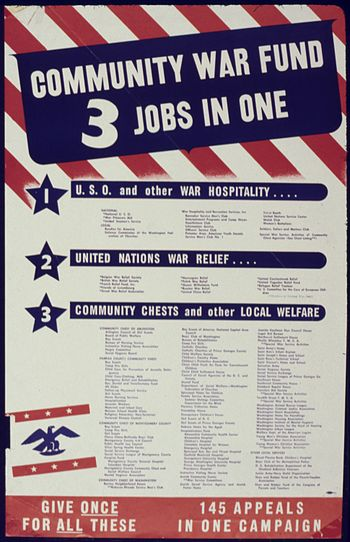 Community War Fund. 3 Jobs in One - NARA - 534040