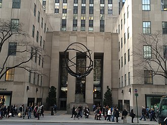 International Building (Rockefeller Center) - The main plaza with the Atlas statue