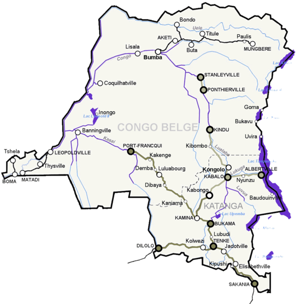 List of railway stations in the Democratic Republic of the Congo