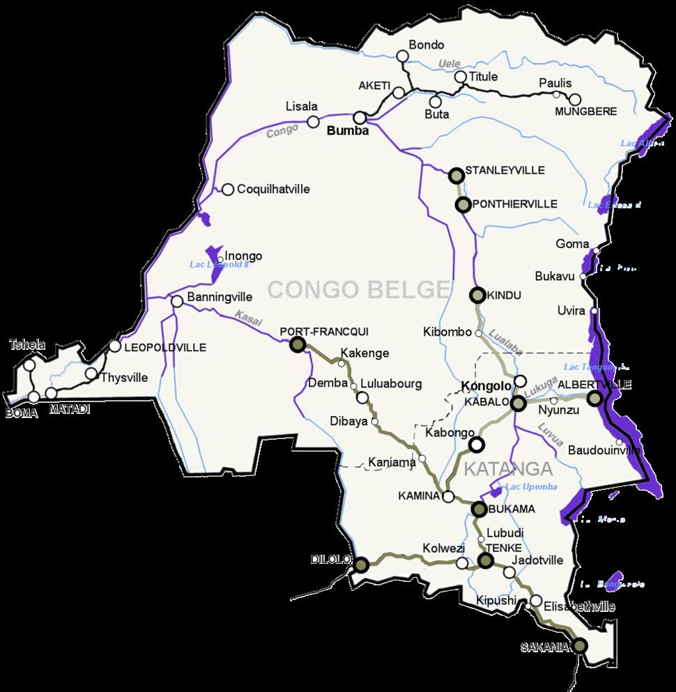 Congo spoorwegen