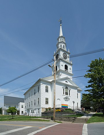 A Congregational church in Middlebury, Vermont Congregational Church, Middlebury, Vermont.jpg
