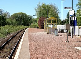 Connel Ferry railway station, West Highland Line, Argyll & Bute. View north.jpg