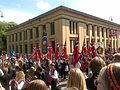 Constitution Day parade passing by the Domus Bibliotheca, University of Oslo - 20090517-02.jpg