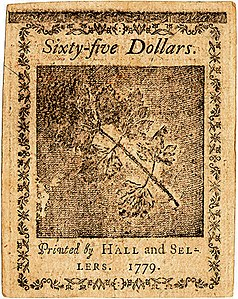 Continental Currency $65 banknote reverse (January 14, 1779).jpg
