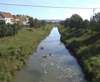 Controlled dredged river Olšava in Uherský Brod.png