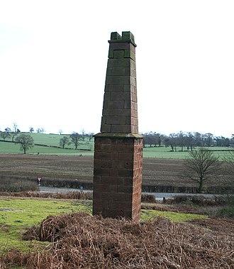 Bickerton Hill - Copper mine chimney