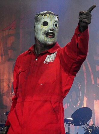 Slipknot (band) - Corey Taylor performing with Slipknot in 2011.