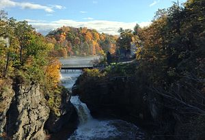 Cornell University - Beebe Lake waterfall from the Thurston Bridge