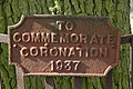 Coronation plaque, Coombegreen Common - geograph.org.uk - 723668.jpg