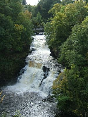 Falls of Clyde (waterfalls) - Image: Corra linn