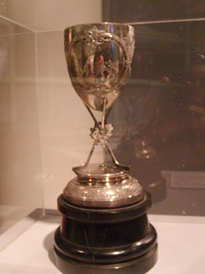 1890–91 Ottawa Hockey Club season - Cosby Cup, on display at Ottawa City Hall, January, 2009
