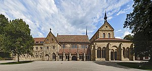 Maulbronn Monastery - Image: Courtyard facade Maulbronn Monastery