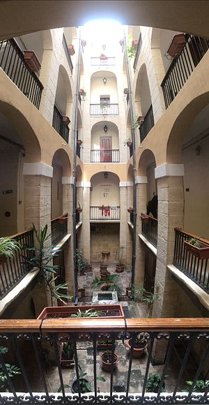 Debtors' prison - The 18th century debtors' prison at the Castellania in Valletta, now the offices of the Health Ministry in Malta