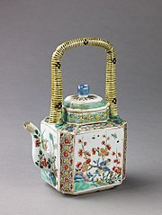 Covered wine pot or teapot