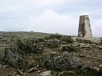 Crib y Ddysgl Trig Point, 3,493 feet (1,065m) - geograph.org.uk - 82662.jpg