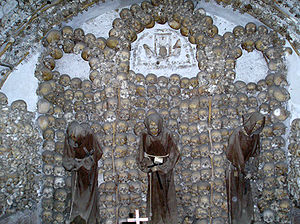 The remains of 4,000 friars adorn the ossuary ...