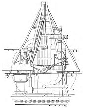 Crosshead engine diagram of PS Belle