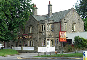 Crosspool - The Crosspool Tavern, a pub on Manchester Road since 1824, the original building was replaced by this structure in 1930.
