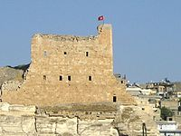 Crusader Castle on the banks of the Euprates.jpg