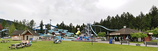 Cultus Lake Waterpark panorama