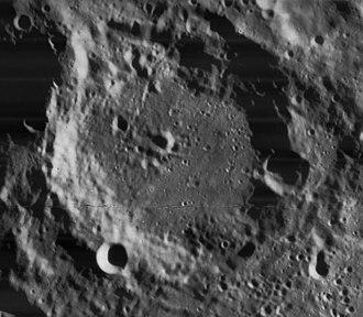 Curtius (crater) - Lunar Orbiter 4 image.