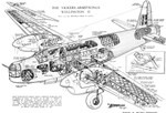 Cutaway drawing of the Vickers Wellington B Mark II bomber, circa 1943 (44266120).png