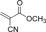 Structural fomula of methyl cyanoacrylate