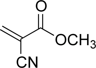 Cyanoacrylate - Chemical structure of methyl cyanoacrylate