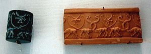 300px Cylinder seal lions Louvre MNB1167b God Says Earth Spins like a.... Seal?
