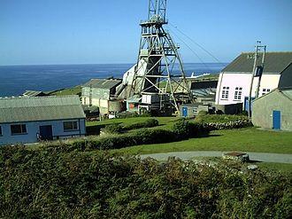 Cornwall and West Devon Mining Landscape - Geevor Tin Mine near St Just, Cornwall