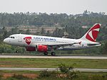 Czech Airlines (lsd by SpiceJet) OK-MEL at Bengaluru, Aug 2015-1.jpg