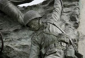 National D-Day Memorial - Detail from the memorial