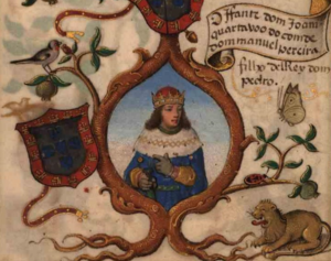 John, Duke of Valencia de Campos - Infante John, in a 1534 miniature in the Genealogy of D. Manuel Pereira, 3rd count of Feira