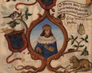 John, Duke of Valencia de Campos - Infante John, in a 1534 miniature in the Genealogy of D. Manuel Pereira, 3rd count of Feira