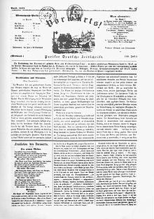 """Front page of Marx's Vorwärts, featuring Heine's poem """"Die schlesischen Weber"""" (Source: Wikimedia)"""