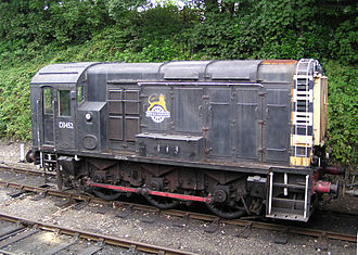 British Rail Class 10 - D3452, at Bodmin on 28 August 2003. This locomotive is preserved on the Bodmin & Wenford Railway