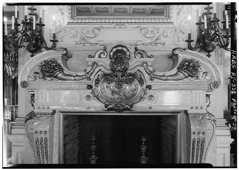 File:DETAIL OF MORNING ROOM FIREPLACE FROM THE SOUTHEAST - The Breakers, Ochre Point Avenue, Newport, Newport County, RI HABS RI,3-NEWP,67-29.tif