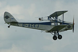 De Havilland Fox Moth - Fox Moth in flight at Fenland Airfield (2012)