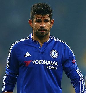 Diego Costa - Costa playing for Chelsea in 2015