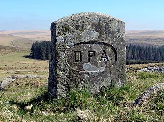 Dartmoor Preservation Association - DPA boundary stone at Sharpitor