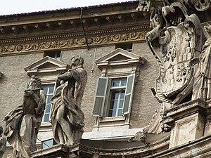 English: Vatican Pope' Window St Pieter Basili...