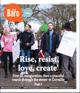 The Daily Barometer - Cover of the Jan. 23, 2017 edition of The Baro